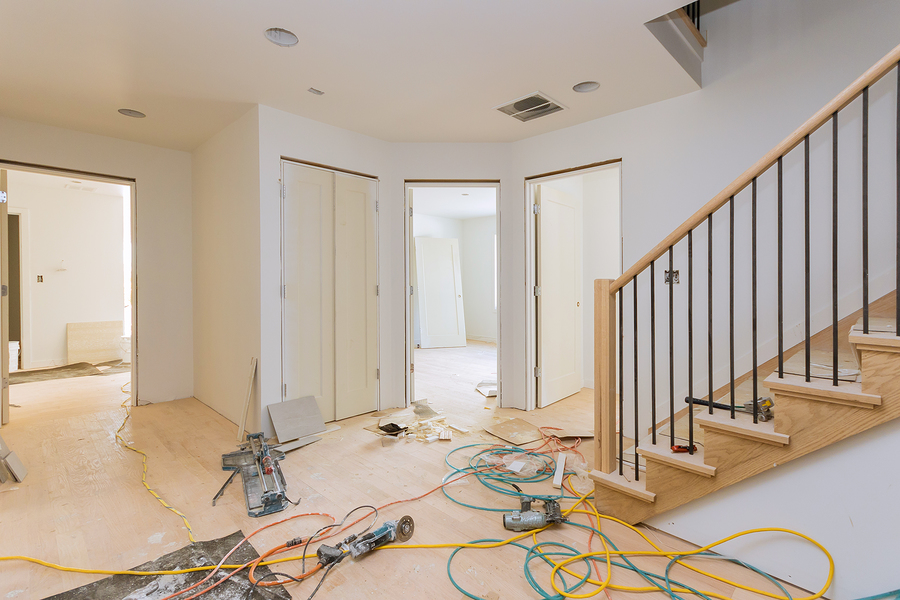construction building industry new home construction interior drywall tape and finish details installed door for a new home before installing